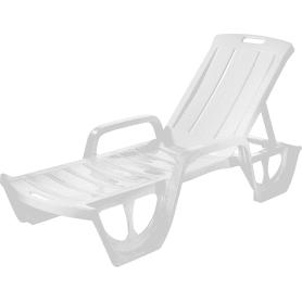 Шезлонг Keter Florida 190х67х30 см пластик белый
