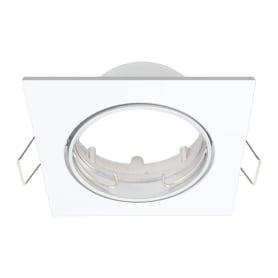 Светильник точечный встраиваемый 82 мм, 2.5 м², цвет белый