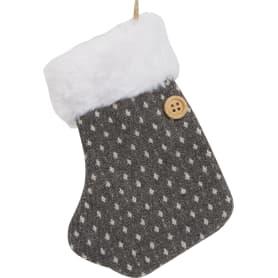 Украшение ёлочное «Носок серый»