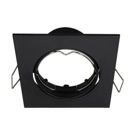 Светильник точечный встраиваемый 82 мм, 2.5 м², цвет чёрный