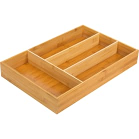 Лоток для столовых приборов Delinia, 30x6.4x46 см, бамбук, цвет жёлтый