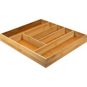 Лоток для столовых приборов Delinia, 50x6.4x46 см, бамбук, цвет жёлтый