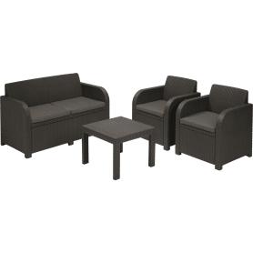 Набор мебели Novara 4 предмета: 1 стол, 1 диван, 2 кресла
