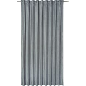 Штора на ленте «Carol», 200х280 см, цвет тёмно-серый
