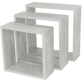 Полка кубическая, 20х10 см/24х10 см/28х10 см, цвет серый, 3 шт.
