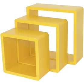 Полка кубическая, 20х10 см/24х10 см/28х10 см, цвет жёлтый, 3 шт.