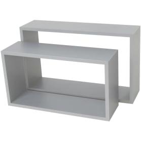 Полка прямоугольная, 45х27 см/40х22 см, цвет серый, 2 шт.