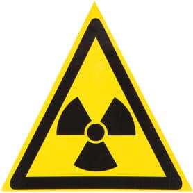 """Наклейка маленькая 48 """"Радиация"""""""
