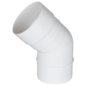 Колено Dacha 80 мм 45 градусов белый