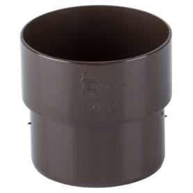 Соединитель желоба Dacha 80 мм коричневый