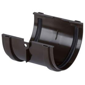 Соединитель желобов Dacha 120 мм коричневый