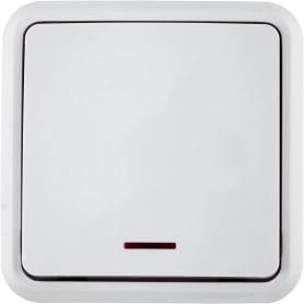 Выключатель с подсветкой цвет белый
