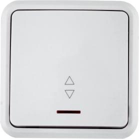 Выключатель проходной с подсветкой цвет белый
