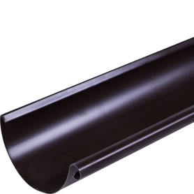 Желоб полукруглый 3000 D125 мм цвет коричневый