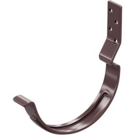 Держатель для желоба карнизный D125 мм коричневый