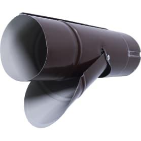 Отвод для сбора воды D90 мм цвет коричневый