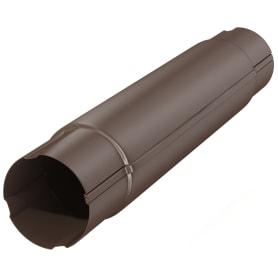 Труба соединительная D90 1000 мм цвет коричневый