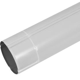 Труба круглая D90 мм 3000 мм цвет белый