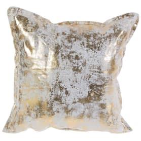 Подушка «Лён» 40х40 см патина цвет золотой