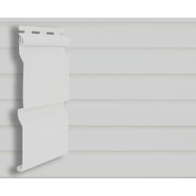 Сайдинг ПВХ брус 2700х203 мм белый, 0.548 м2