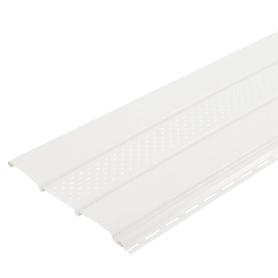 Софит ПВХ с перфорацией 2700х300 мм белый, 0.81 м2