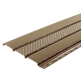 Софит ПВХ с перфорацией 2700х300 мм темно-коричневый, 0.81 м2