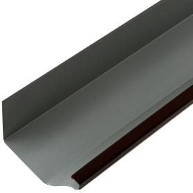 Желоб прямоугольный 2 м 120х86 мм цвет коричневый