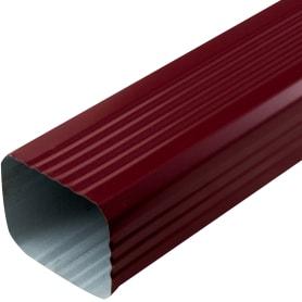Труба водосточная 76х102х2000 мм цвет красный