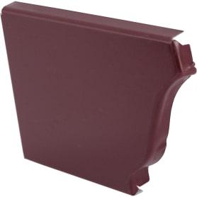 Заглушка желоба левая 120 86 мм цвет красный