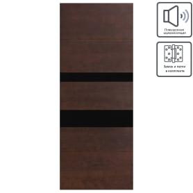 Дверь межкомнатная остеклённая шпон Модерн 80x200 см цвет антик