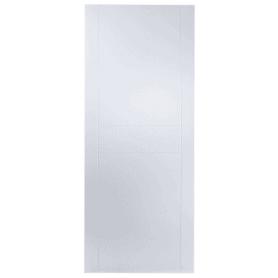 Дверь межкомнатная глухая Аликанте 70x200 см цвет белый