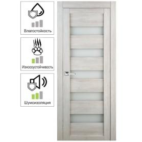 Дверь межкомнатная остеклённая Лайн 90x200 см цвет дуб бриг