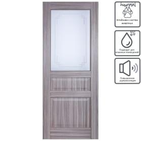 Дверь межкомнатная остеклённая Artens Мария 70x200 см цвет серый дуб