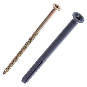 Дюбель-гвоздь потайной 6x80 мм, полипропилен, 10 шт.