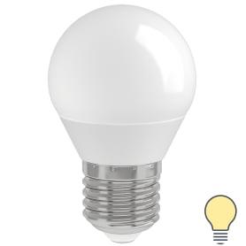 Лампа светодиодная IEK «Шар» G45, E27, 7 Вт, 230 В, 3000 К, свет тёплый белый
