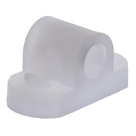 Кронштейн, мебельный крепёж, пластик, цвет прозрачный, 8 шт.