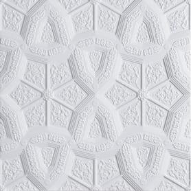 Плитка потолочная бесшовная полистирол белая Формат Лувр 50 x 50 см 2 м²