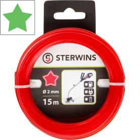 Леска сменная для триммера Sterwins 2 мм х 15 м, звезда, цвет красный