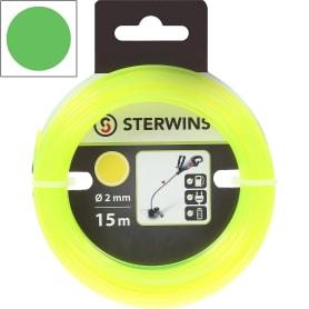 Леска для триммера Sterwins, 2 мм х 15 м, круглая, цвет жёлтый
