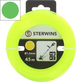 Леска для триммера Sterwins, 1.5 мм х 45 м, круглая, цвет жёлтый