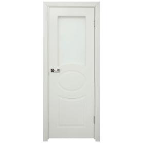 Дверь межкомнатная остеклённая Дэлия 60x200 см цвет белый