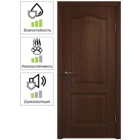 Дверь межкомнатная Антик глухая ПВХ цвет итальянский орех 90x200 см