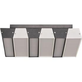 Люстра светодиодная «Piano» 4015/46СL 46 Вт, цвет чёрный/белый