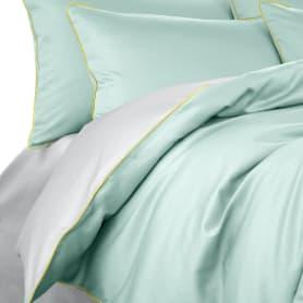 Комплект постельного белья Seta Smillo Satin Cascade полутораспальный сатин серый