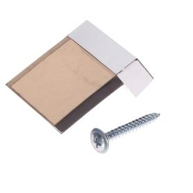 Ручка-кнопка 85, цвет коричневый/серебро