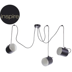 Подвесной светильник Inspire 234 3хЕ27х60 Вт цвет чёрный