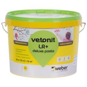 Шпаклёвка полимерная суперфинишная Weber Vetonit LR deluxe pasta 18 кг