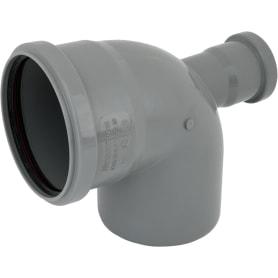 Отвод d 110 мм 87 градусов с фронтальным выходом d 50 мм