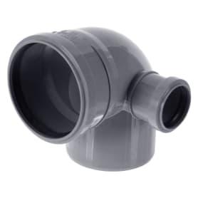 Отвод d 110 мм 87 градусов с правым выходом d 50 мм