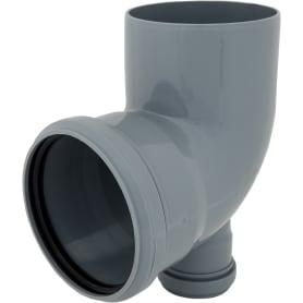 Отвод d 110 мм 87 градусов с прямым выходом d 50 мм